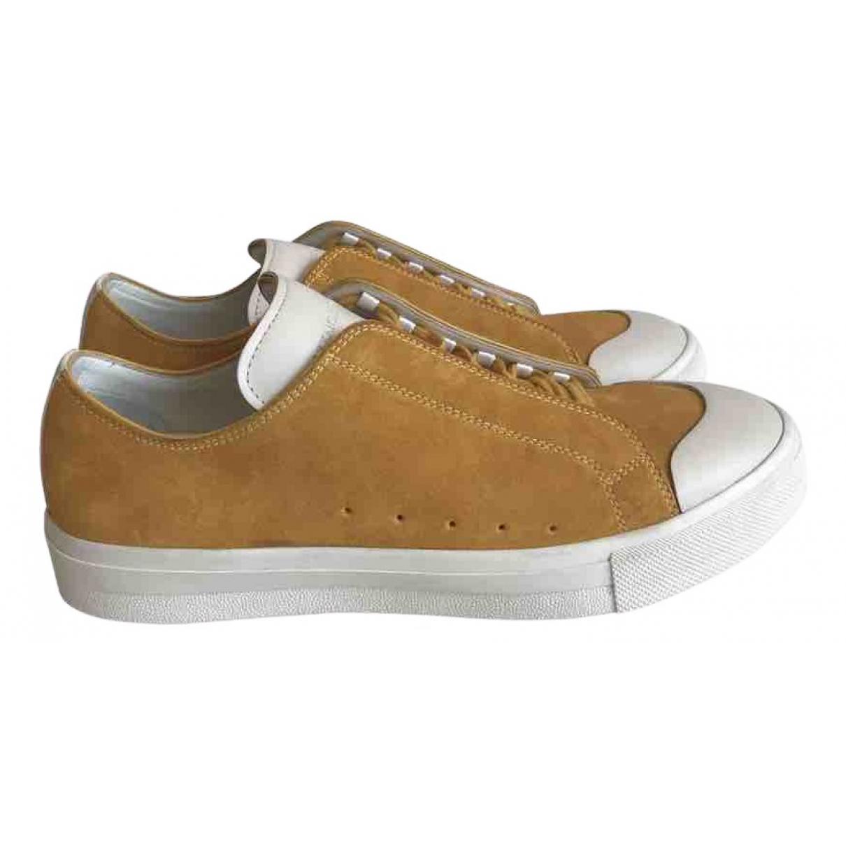 Alexander Mcqueen \N Sneakers in  Gelb Veloursleder