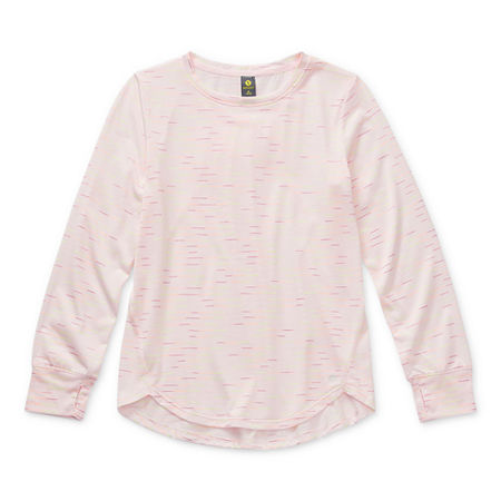 Xersion Little & Big Girls Round Neck Long Sleeve Tunic Top, X-large (18.5) Plus , Pink