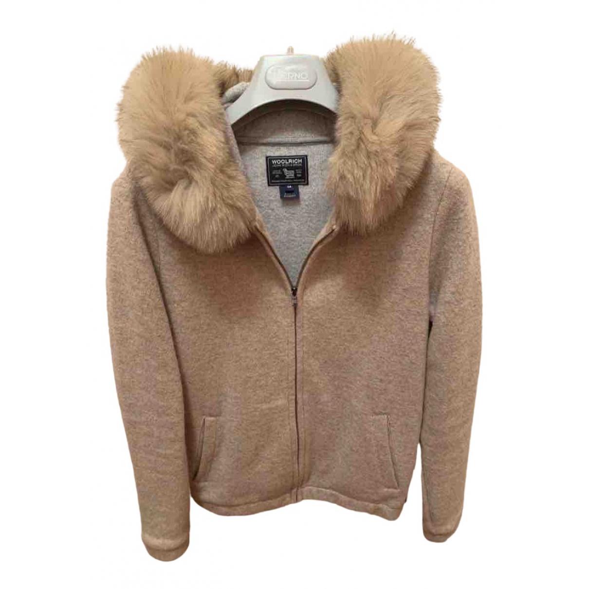 Woolrich \N Jacke, Maentel in  Beige Wolle