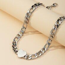 Heart Decor Chain Choker