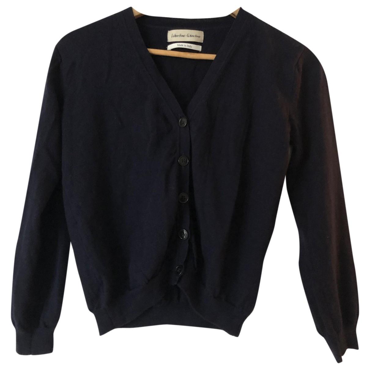 Libertine Libertine \N Pullover in  Marine Wolle