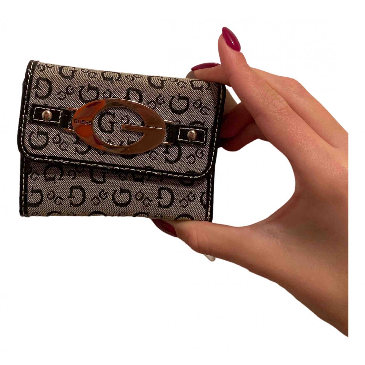 Guess - Portefeuille   pour femme en toile - gris