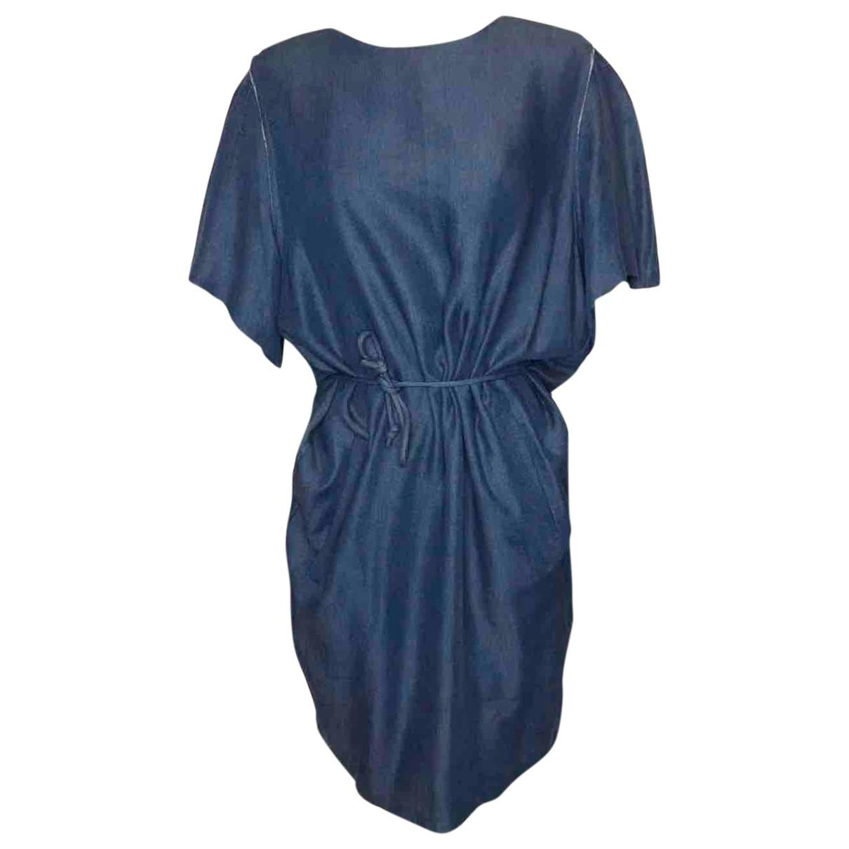 Acne Studios \N Blue Cotton - elasthane dress for Women 36 FR