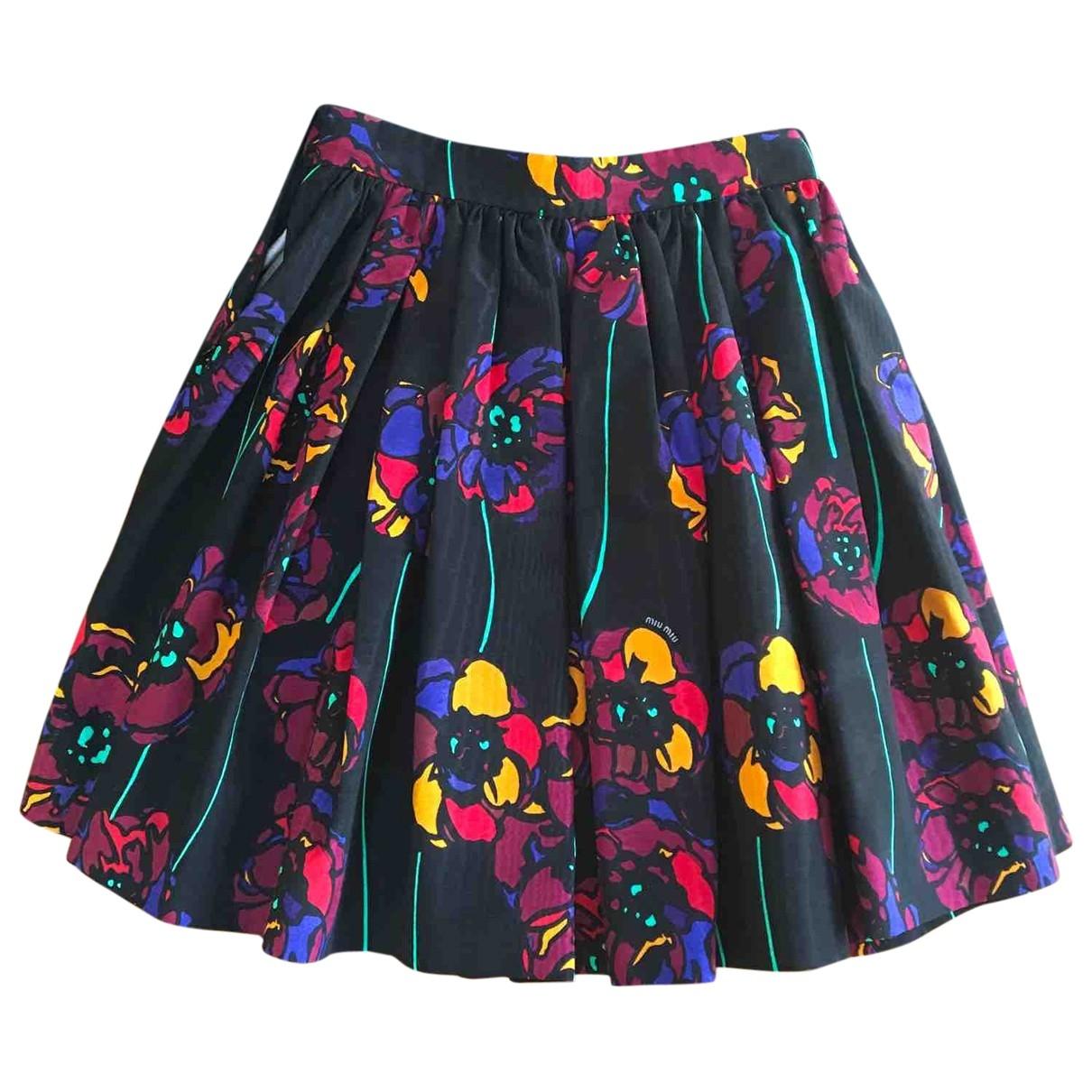 Miu Miu - Jupe   pour femme en coton - multicolore