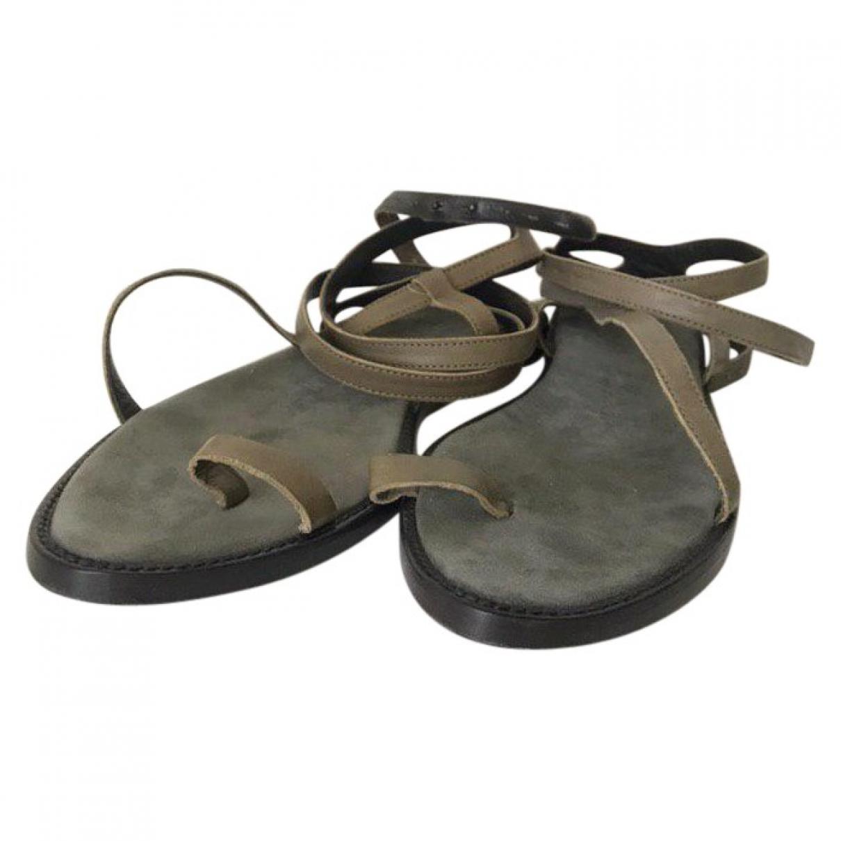 Haider Ackermann \N Grey Leather Sandals for Women 8.5 US