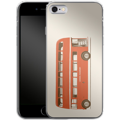 Apple iPhone 6s Silikon Handyhuelle - Red London Bus von Florent Bodart