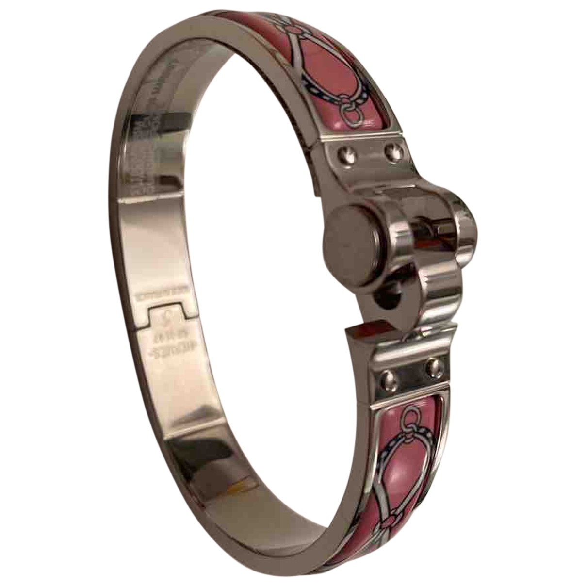 Hermès Bracelet Charnière Pink Metal bracelet for Women N