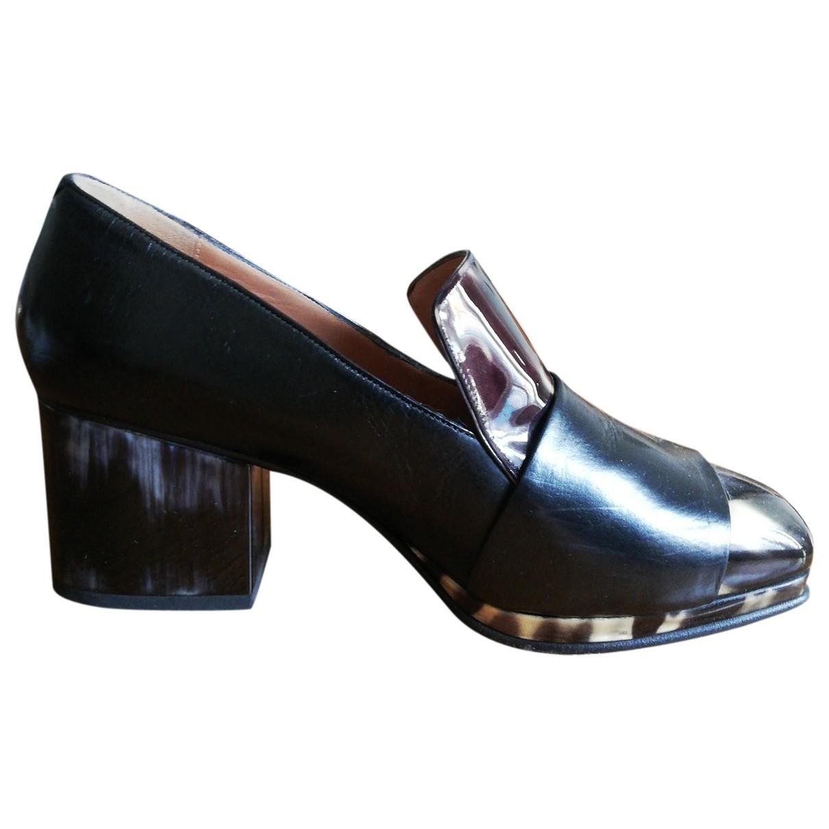 Dries Van Noten - Escarpins   pour femme en cuir - noir