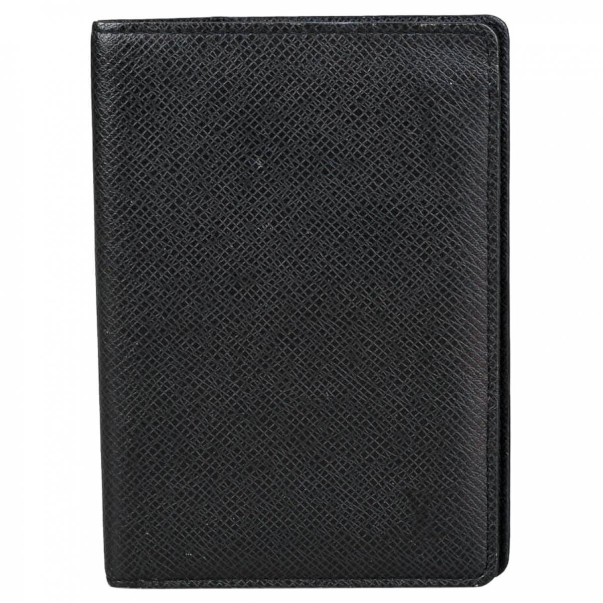 Louis Vuitton Pocket Organizer Kleinlederwaren in  Schwarz Leder