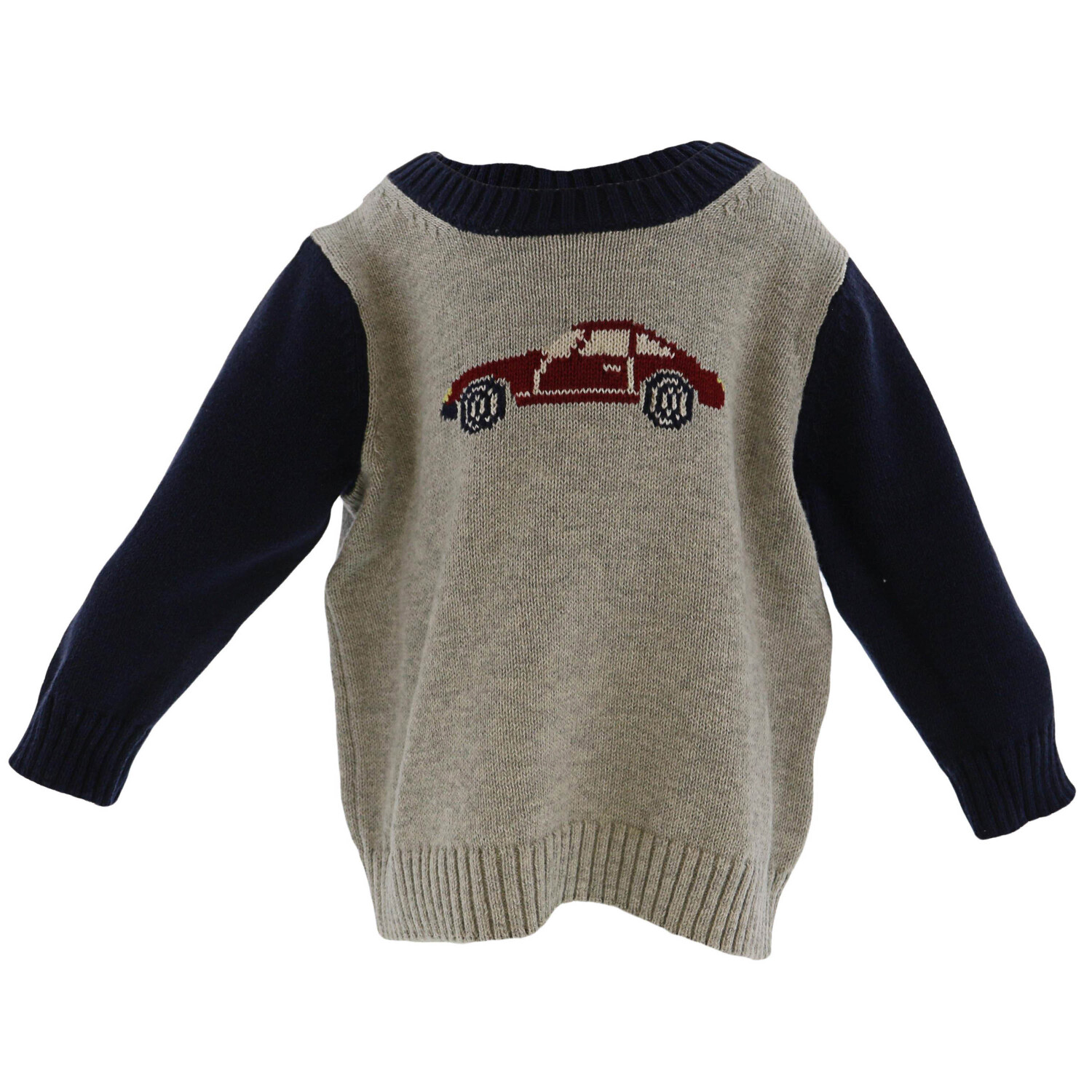 Janie And Jack Grey Car Sweater - 3-6 Months