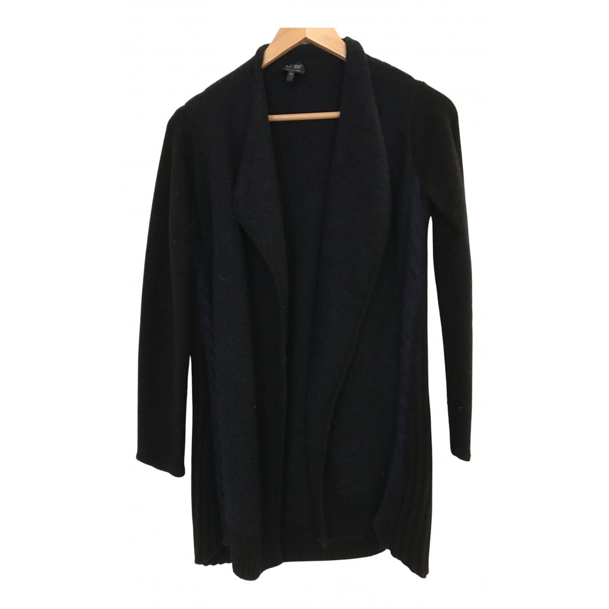 Armani Jeans N Black Wool Knitwear for Women 36 FR