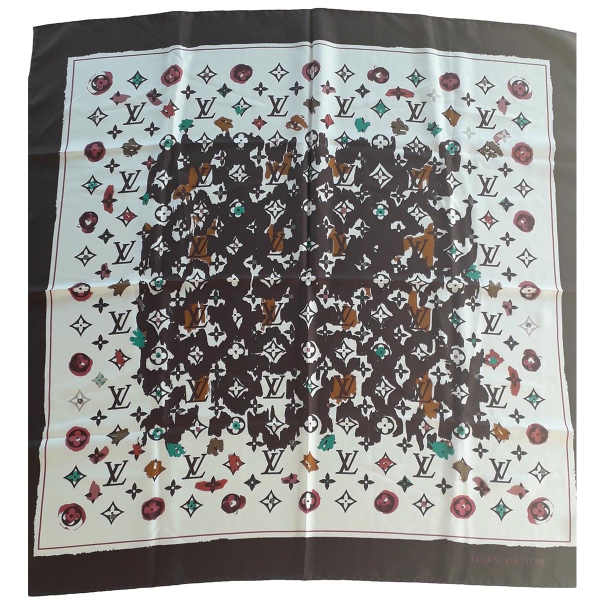 Louis Vuitton - Carre   pour femme en soie - marron