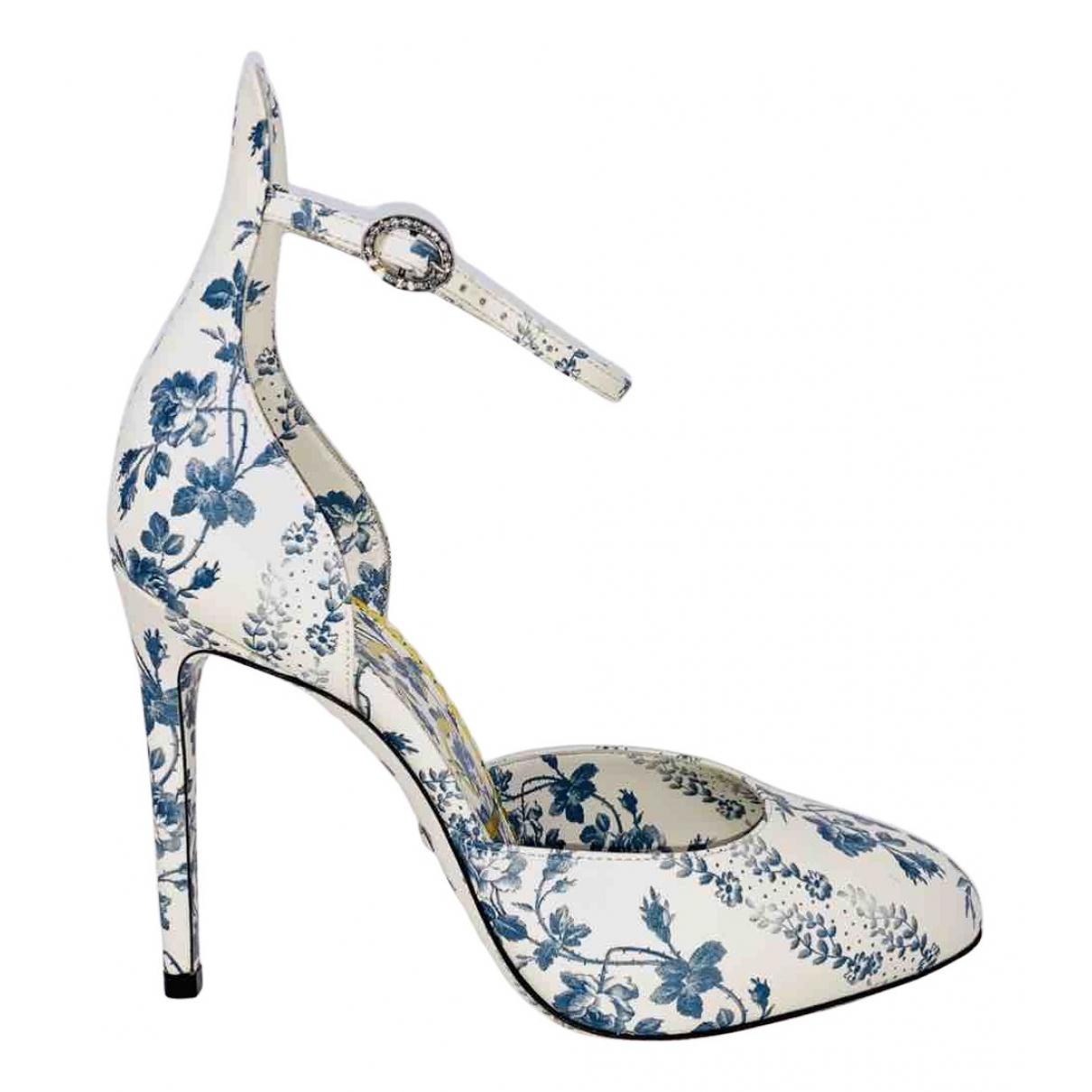 Gucci - Escarpins   pour femme en cuir - blanc
