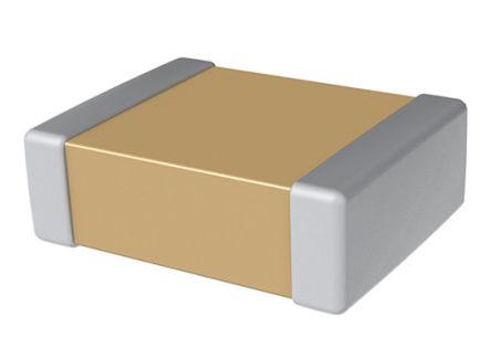 KEMET 1206 (3216M) 10μF Multilayer Ceramic Capacitor MLCC 25V dc ±5% SMD C1206X106J3RACTU (2000)