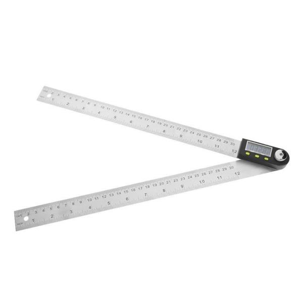 Digital Angle Ruler 0-200/300/500 Stainless Steel Protractor Woodworking Angle Protractor Angle Ruler