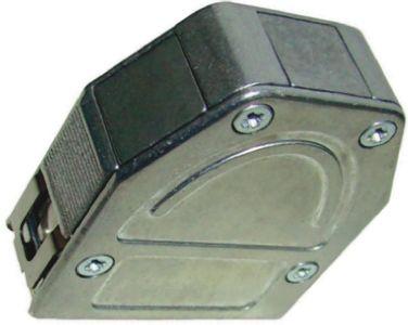 Provertha , 104 ABS D-sub Connector Backshell, 9 Way, Black