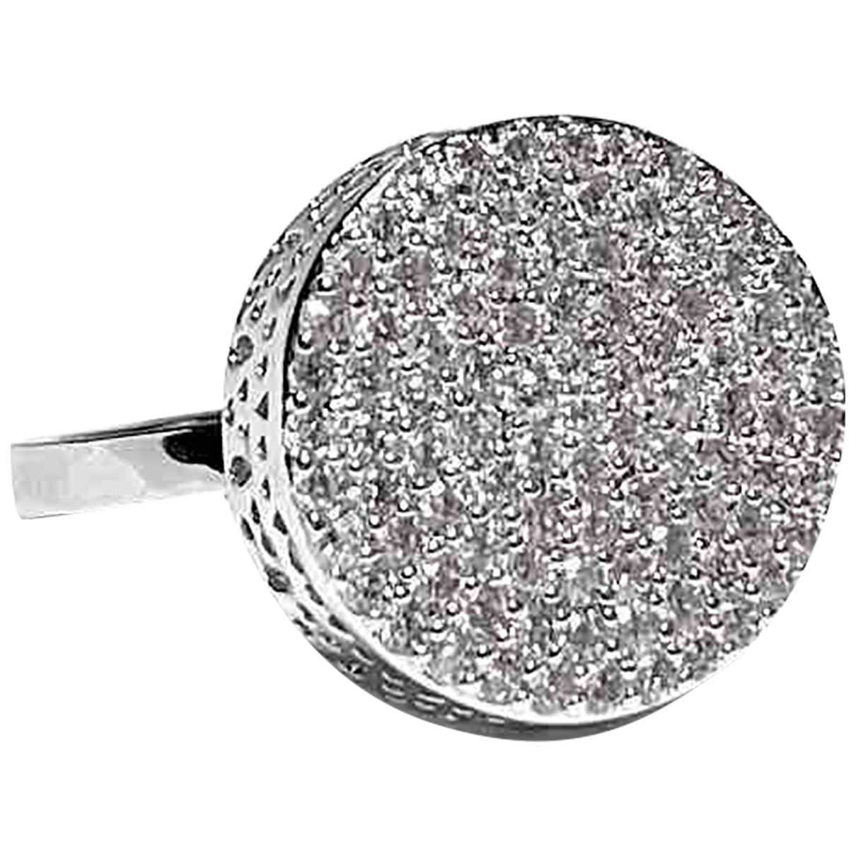 Non Signé / Unsigned Bagues Cocktails Silver Metal ring for Women 57 EU