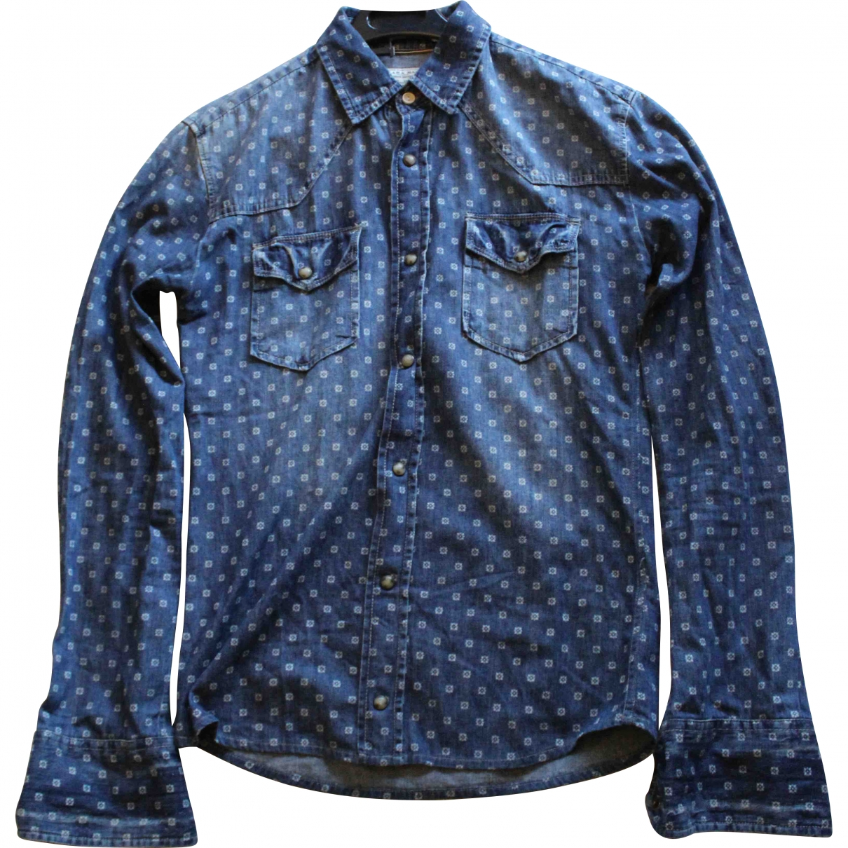Zara \N Blue Cotton Shirts for Men S International