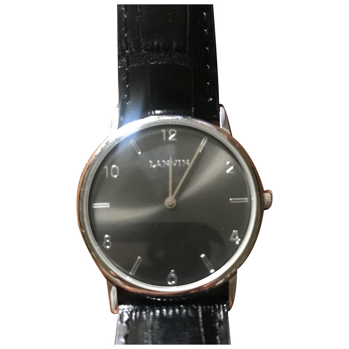 Lanvin \N Black Steel watch for Men \N