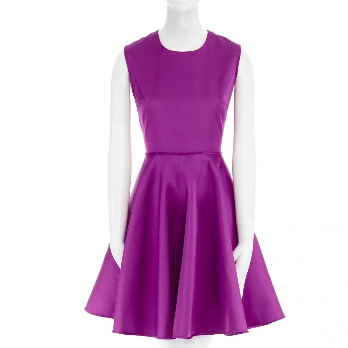 Giambattista Valli \N Purple Silk dress for Women 42 IT
