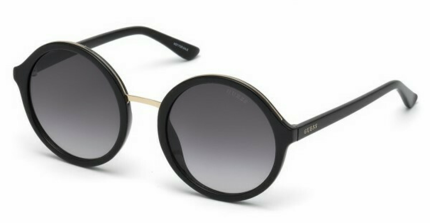 Guess Women's Gradient Gu7558 GU7558-F-01B-54 Black Round Sunglasses