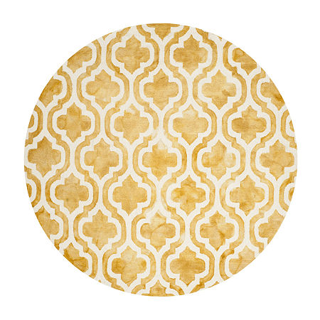 Safavieh Dip Dye Collection Elfrida Geometric Round Area Rug, One Size , Multiple Colors