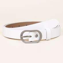Oval Needle Buckle Belt