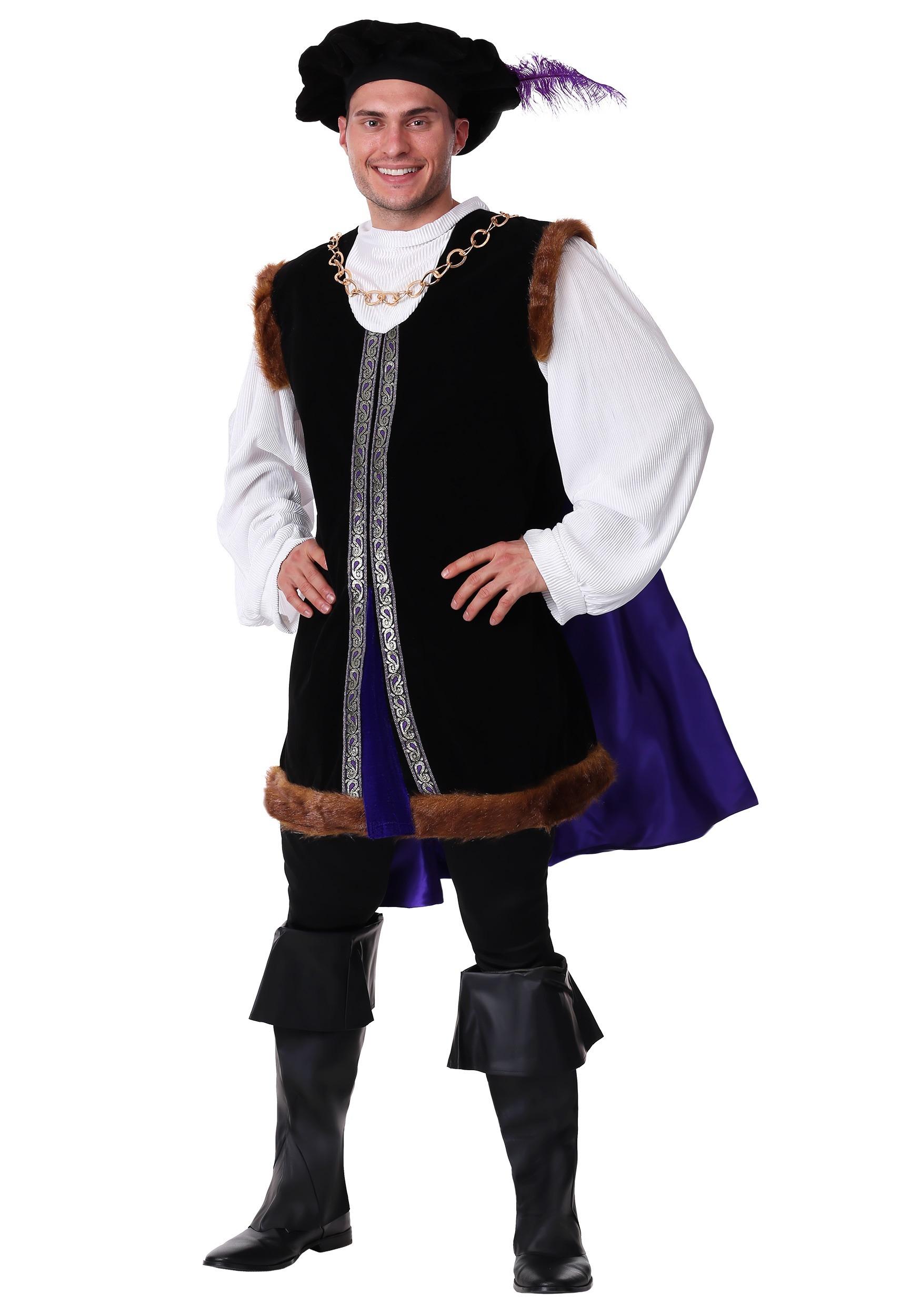 Adult Plus Size Noble Renaissance Man Costume
