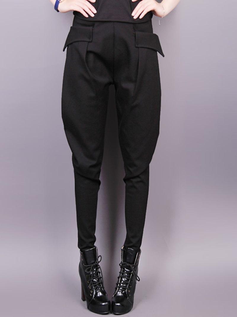 Ericdress Unique Solid Color Harem Pants
