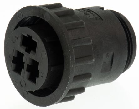 TE Connectivity Connector, 3 contacts Cable Mount Plug, Crimp IP65