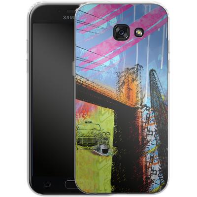 Samsung Galaxy A5 (2017) Silikon Handyhuelle - Pop Brooklyn Bridge von Mark Ashkenazi