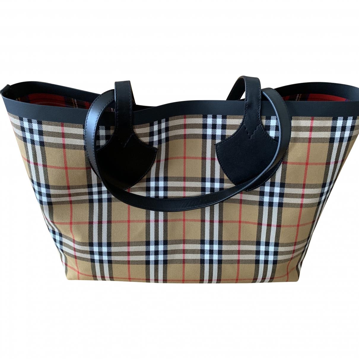 Burberry The Giant  Camel Cloth handbag for Women \N