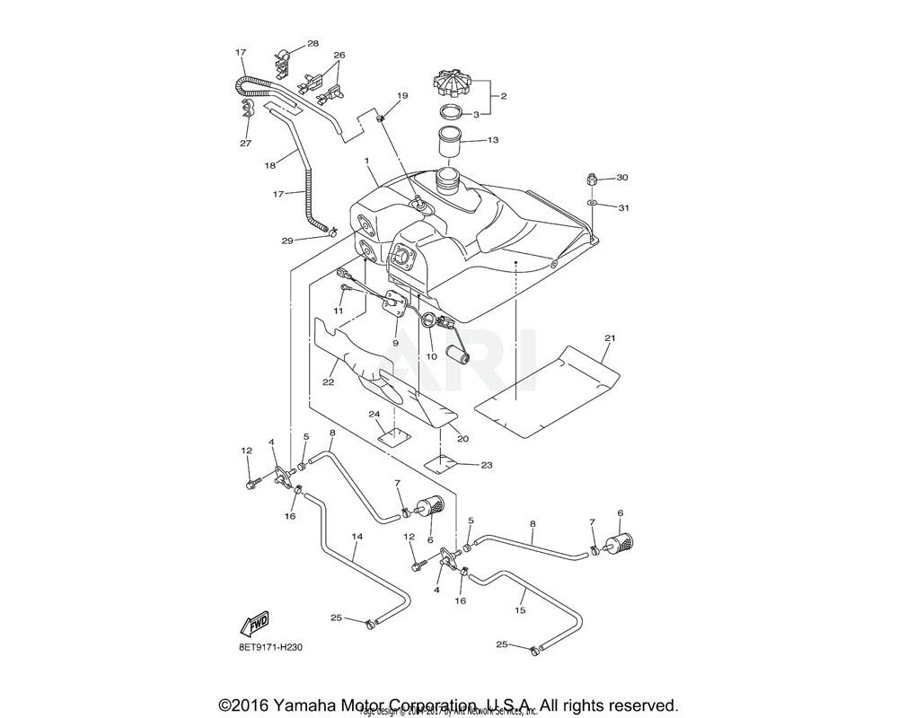Yamaha OEM 8FA-24141-00-00 PROTECTOR, FUEL TANK