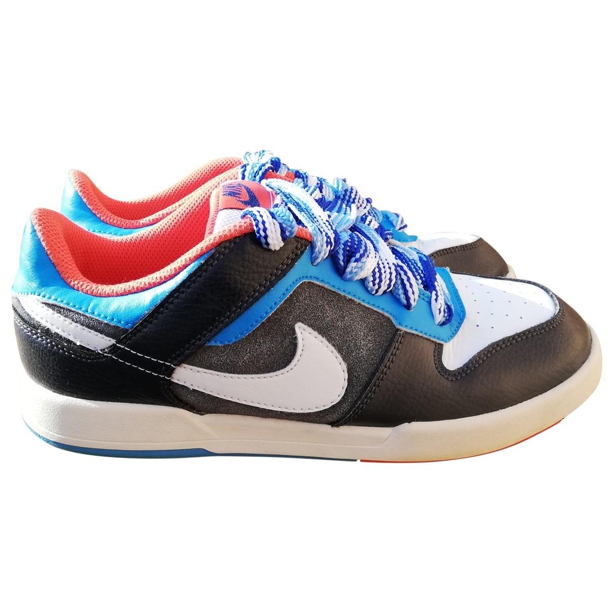 Nike - Baskets SB Dunk  pour femme en cuir - multicolore