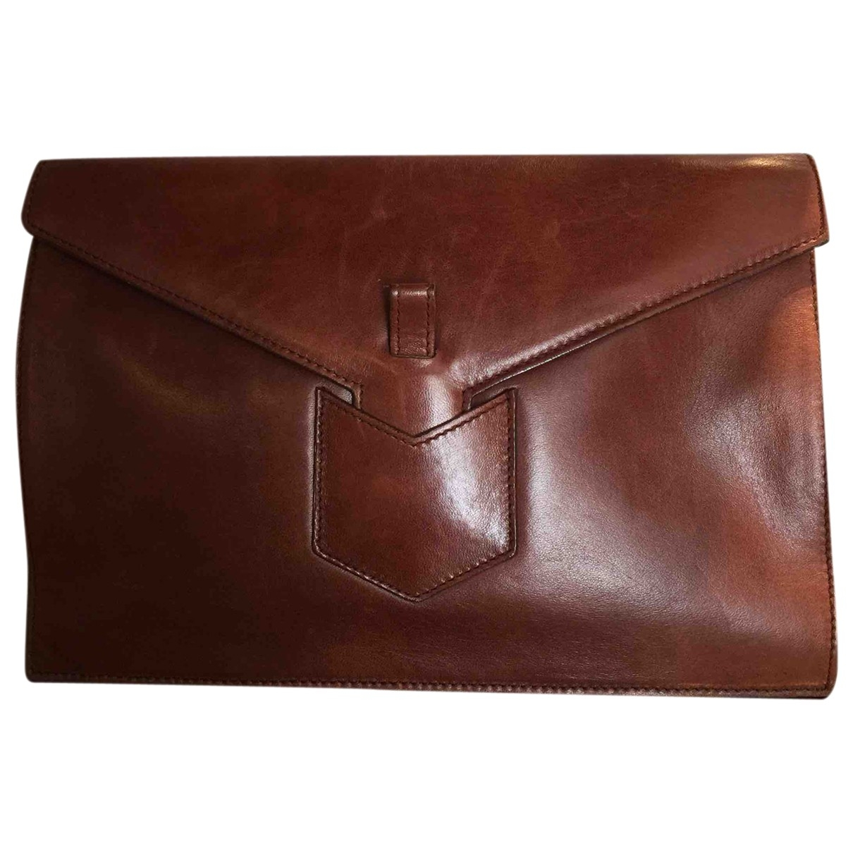 Yves Saint Laurent \N Brown Leather handbag for Women \N
