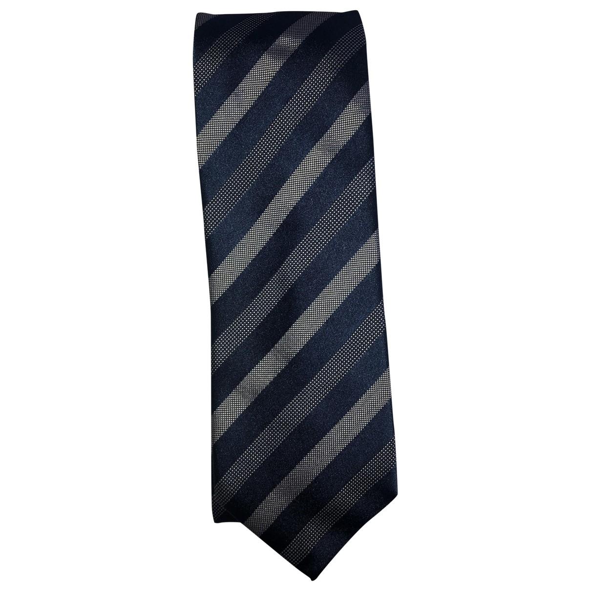 Hugo Boss \N Krawatten in  Blau Seide