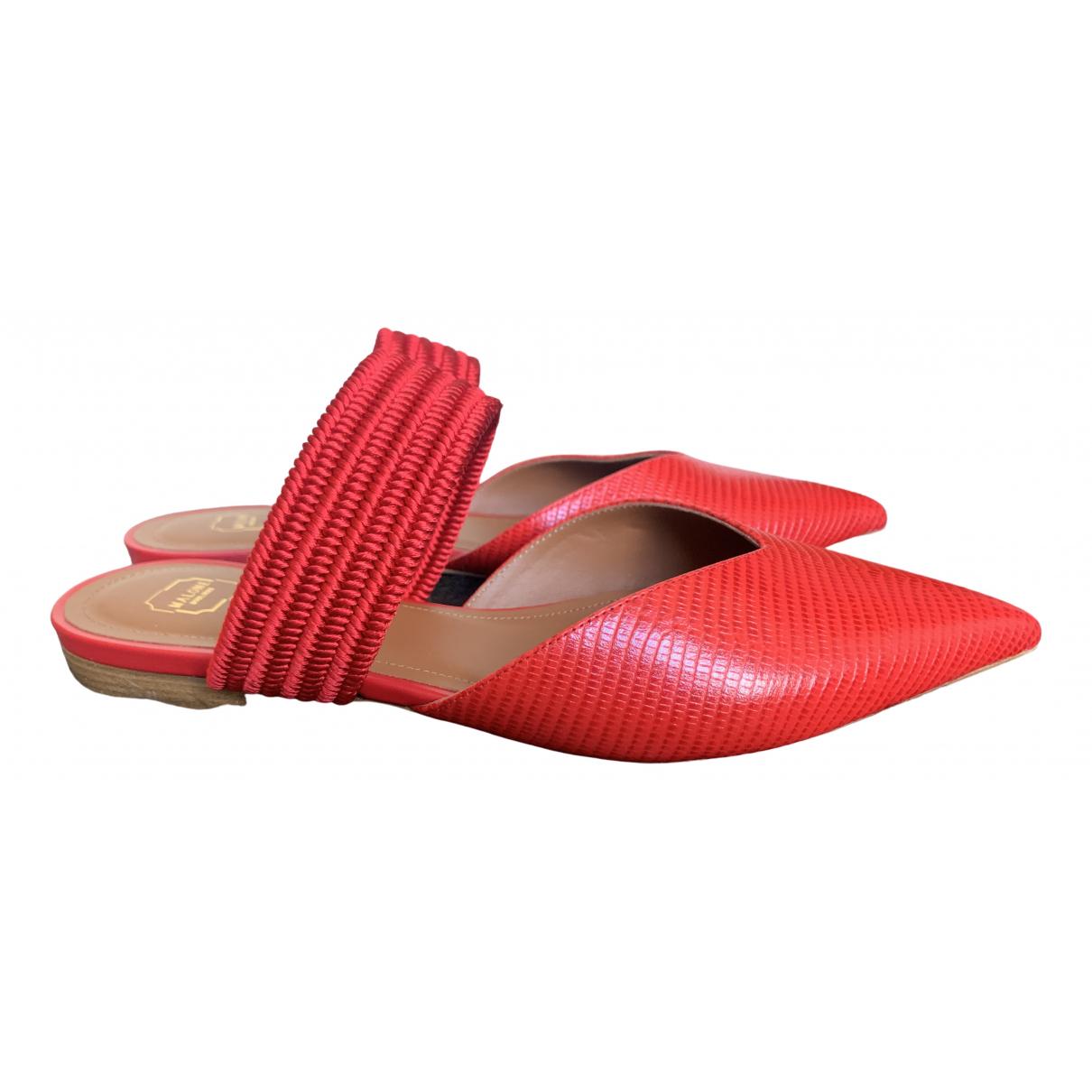 Malone Souliers - Sandales   pour femme en lezard - rouge
