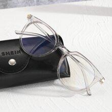 Gafas de hombres de marco transparente