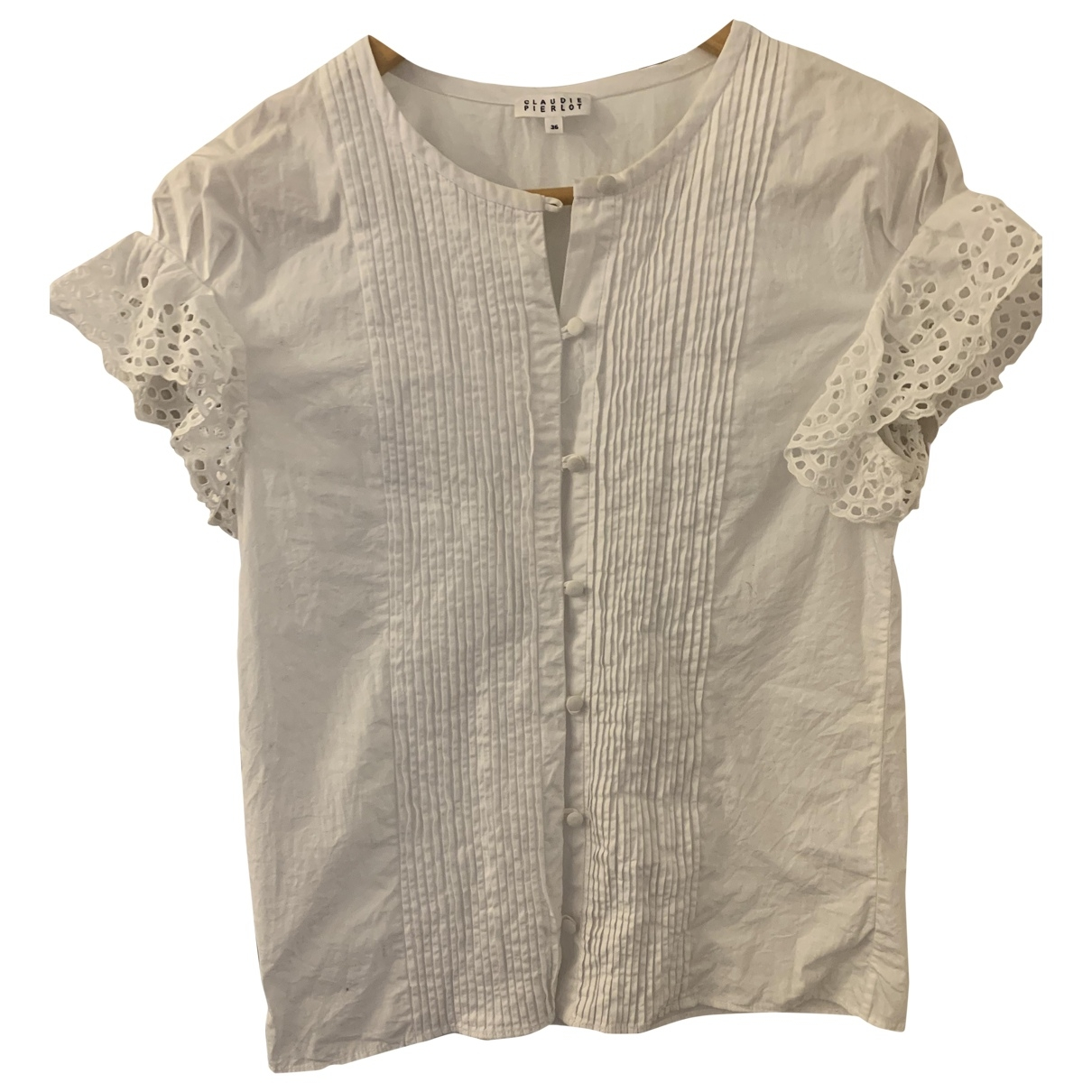 Claudie Pierlot \N White Cotton  top for Women 36 FR