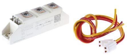 Semikron , SKKT 92B08 E, Dual Thyristor Module SCR, 95A 800V, 7-Pin Semipack1