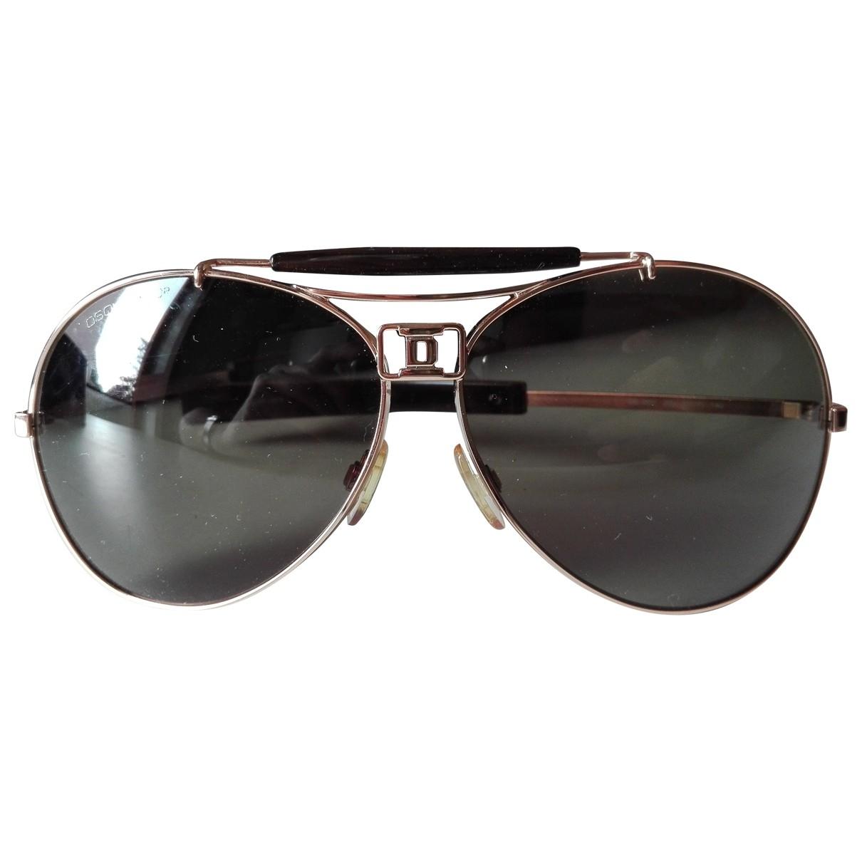 Dsquared2 \N Gold Metal Sunglasses for Men \N