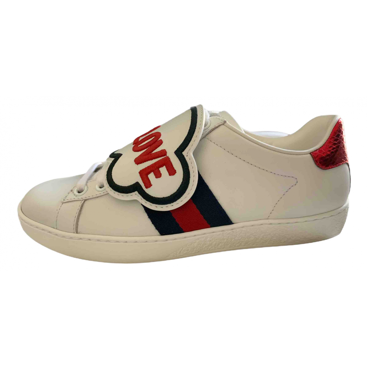 Gucci \N White Leather Trainers for Kids 34 FR