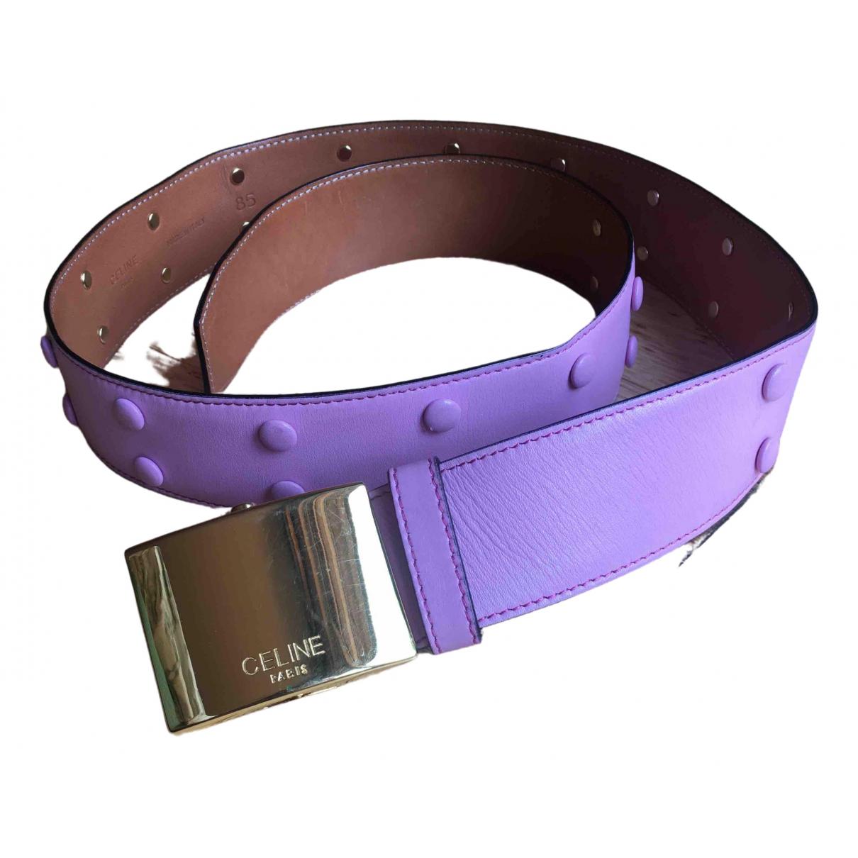 Celine \N Pink Leather belt for Women 95 cm