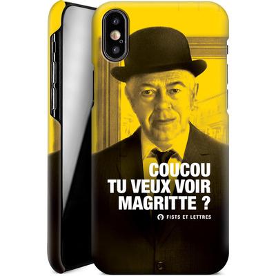 Apple iPhone X Smartphone Huelle - Tu Veux Voir Magritte von Fists Et Lettres