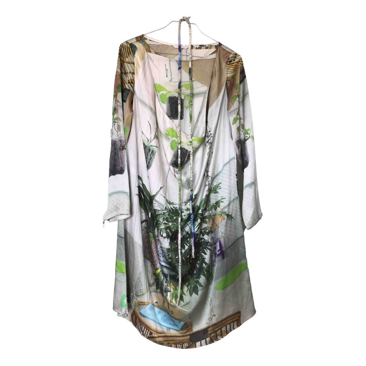 Non Signé / Unsigned \N Multicolour Silk dress for Women XS International
