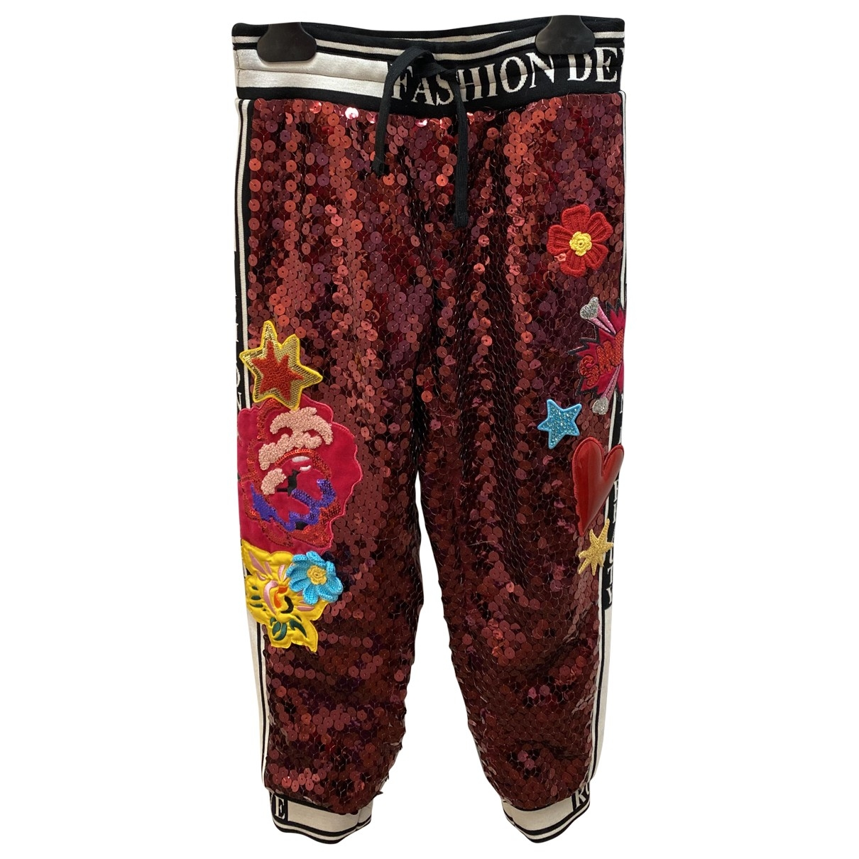 Dolce & Gabbana \N Pink Cotton Trousers for Kids 6 years - up to 114cm FR