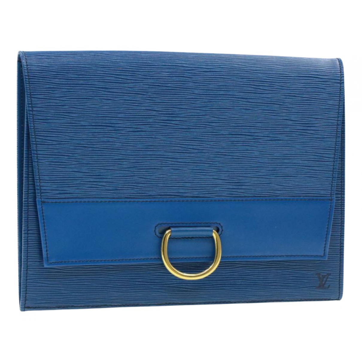 Louis Vuitton \N Clutch in  Blau Leder