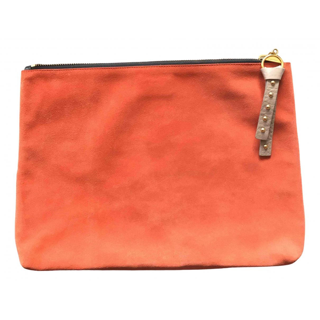 Sonia Rykiel \N Clutch in  Orange Leder