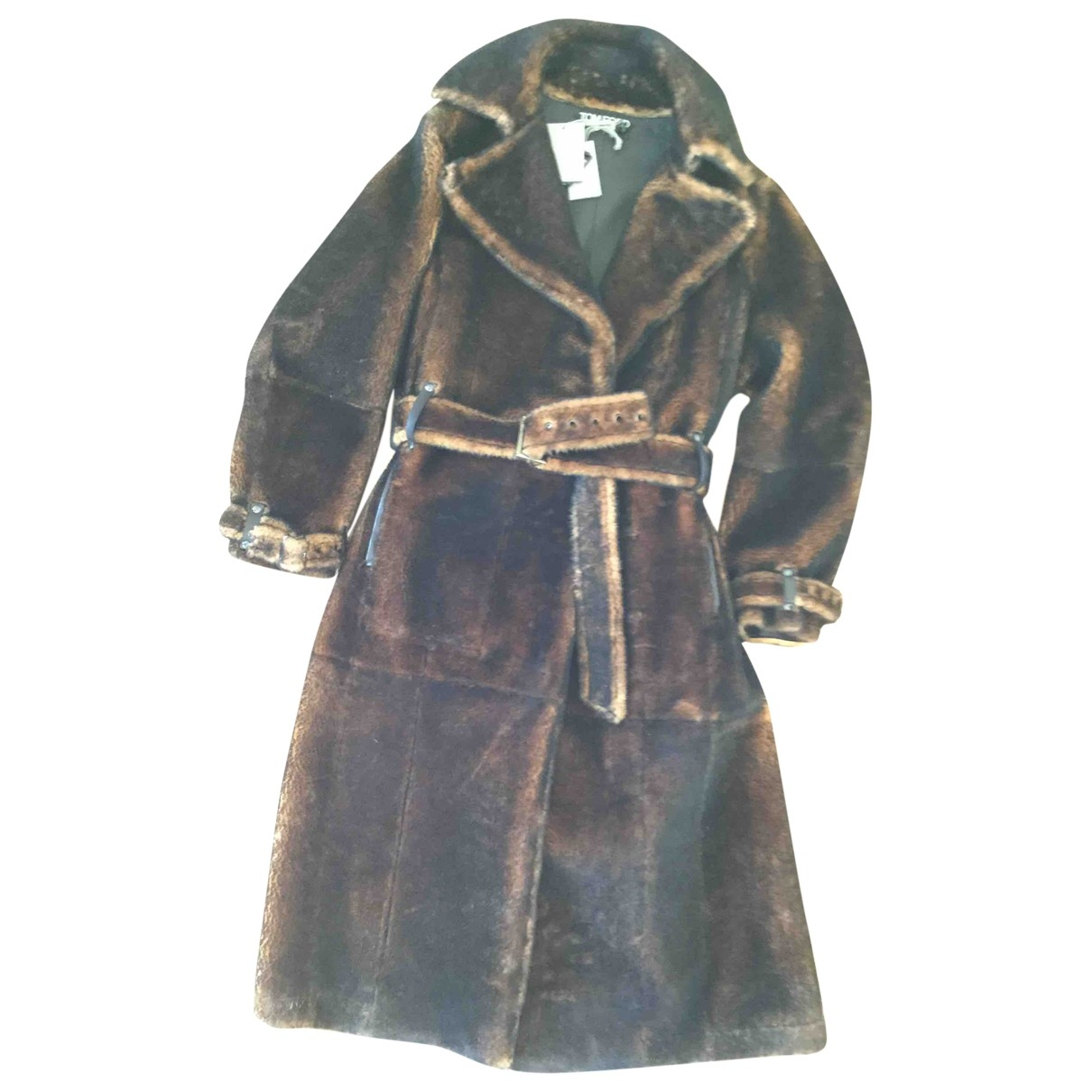 Tom Ford - Manteau   pour femme en mouton - marron
