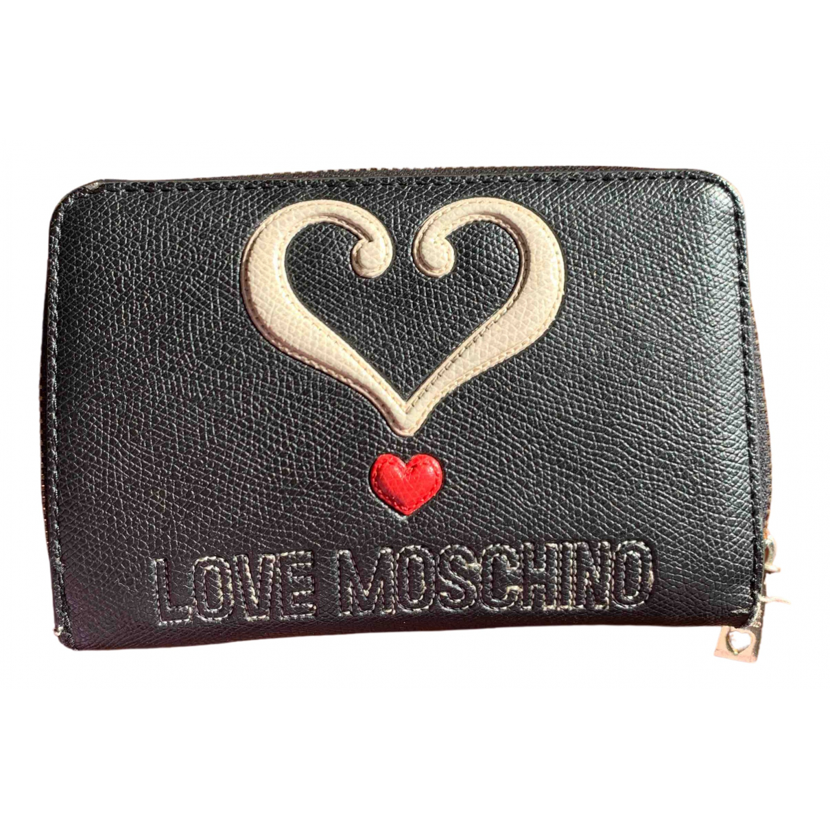 Moschino Love - Portefeuille   pour femme en cuir - noir